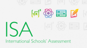international school assessment logo