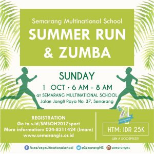 Run & Zumba in semarang multinational school bazaar