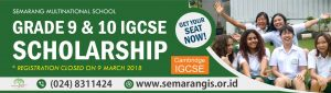 Scholarship at Semarang 2018-2020