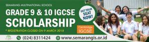 Scholarship at Semarang 2018-2020